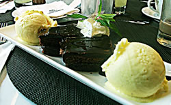 American style Chocolate Brownie at Alison Nelson's Chocolate Box, The Pearl, Doha