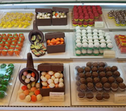 Beautiful delicatessen Chocolates at La Cigale Hotel, Doha.