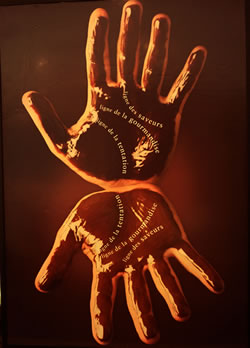 Jeff de Bruges Chocolate Hands Poster, Lagoona Mall, Doha.