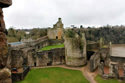 Chepstow Castle in South Wales has extensive grounds with plenty to see.
