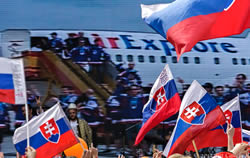 The Slovak hockey team return to Bratislava
