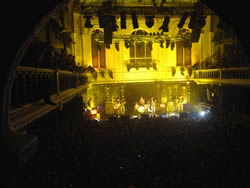 Watching the Arctic Monkeys from the balcony at the Paradiso