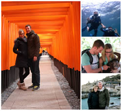 My husband and I on our travels around Asia