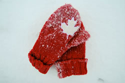 The Iconic Canadian Red Mittens