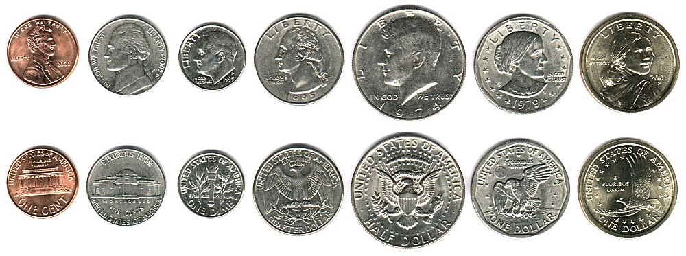 The American Dollar Has 4 Common Coins The Penny Worth 1 Cent The Nickel Worth 5 Cents The Dime Worth 10 Cents And The Quarter Worth 25 Cents