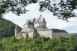 The beautiful Vianden castle in the north of Luxembourg