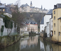A steep valley cuts through Luxembourg city, creating these beautiful vistas