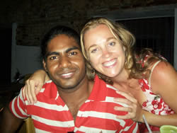 Eliza and her husband Karan