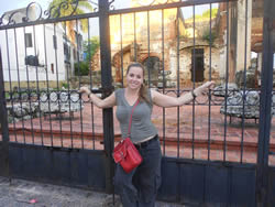 Eliza in la Zona Colonial, Santo Domingo, Dominican Republic