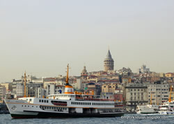 Galata Tower and Bosphorus in Istanbul