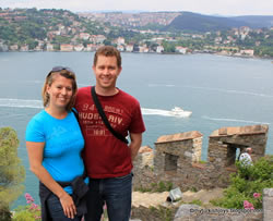 Joy and Jason at Rumeli Fortress Istanbul
