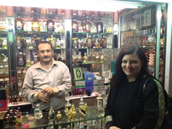 Here I am shopping for Christmas presents (perfumes) in Al Balad, near Jeddah, Saudi Arabia.