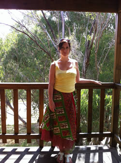 Me standing on our balcony at our home in the Perth hills...