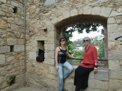 Regina Winkle-Bryan and Nancy Todd in Girona, Spain 2012