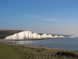 The Seven Sisters, a series of chalk cliffs by the English Channel