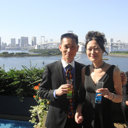 Attended a family wedding at Odaiba, Tokyo