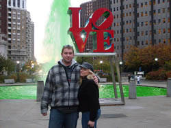 Milan and I in Love Park. Philadelphia, PA
