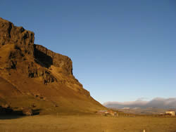 Pétursey mountain in the Mýrdalur valley, South Iceland
