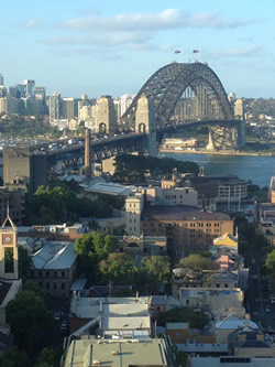 This is one of the first pictures I took when I arrived.  It was the view from the hotel room we stayed at on my first night in Sydney