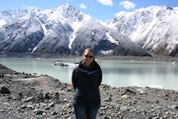 Nicola at Mount Cook