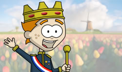 Self declared king of Holland