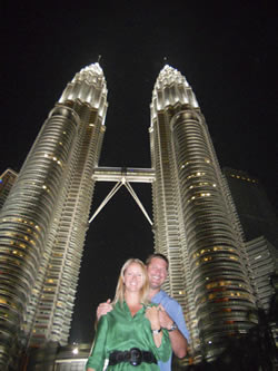 The International Nabers in front of the world famous Petronas Twin Towers- Kuala Lumpur
