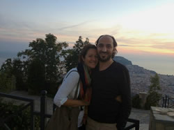 Enjoying the view of Alanya during sunset together