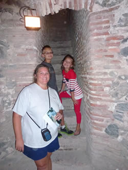 Heidi, Lars and Anya pictured here exploring the San Miguel Castle in Almuñécar