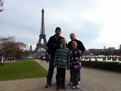 The Wagoner Family spending Christmas in Paris