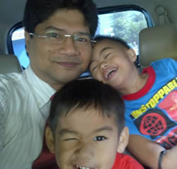 Goofing around with the kids. Off to school. Off to work.