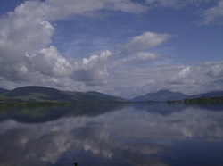 Loch Lomond pulls the highlands and the lowlands together in stunning beauty