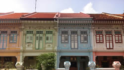 A row of Katong shophouses in the East Coast of Singapore