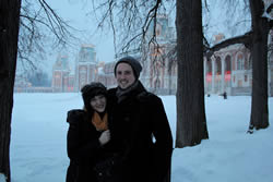 This is my boyfriend Ben and I after we found a castle while walking through one of Moscow's amazing parks!