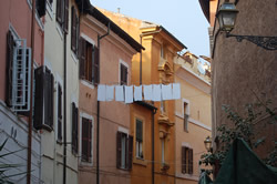 Obligatory laundry shot in Rome's Trastevere neighborhood