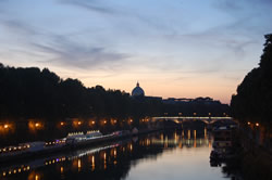 The Tiber and St. Peter's at sunset