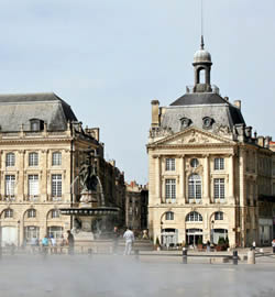 Place de la Bourse in the picturesque central quarters of Bordeaux