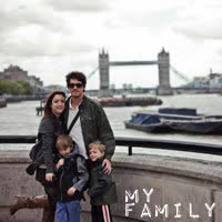 A family photo of my family during our first year in England while in London.
