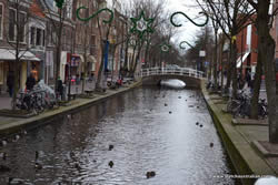Delft canals - get used to canals in The Netherlands, there are a lot of them!
