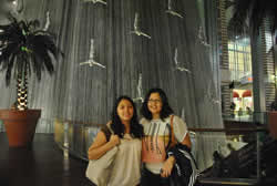The fall at Dubai Mall with my sister