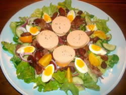 This is an example of my food - A Traditional Gascon Salad