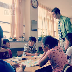 Chase Chisholm teaching English in South Korea 2012
