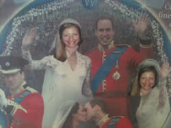 My English colleagues made me this commemorative picture as a joke in April 2011 (because I'm obsessed with the royals!)