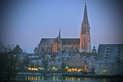 Regensburg, Germany during Christmas