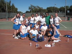 SF Stars Netball team at LA LA Netball Tournament