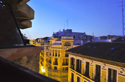 View of Madrid's beautiful streets from my apartment balcony