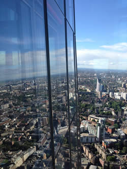 A view from the top of the Shard - the highest building in the EU.