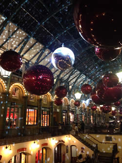 Covent Garden in Christmas mode.