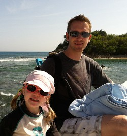 Me and my daughter during a cruise in 2012