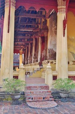 Temple in Vientiane, Laos