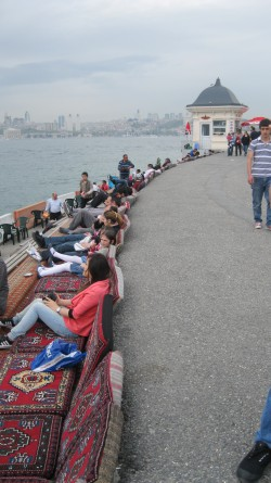 Tea and nargile viewing spot in Üsküdar, where the Sea of Marmara meets the Bosphorus.